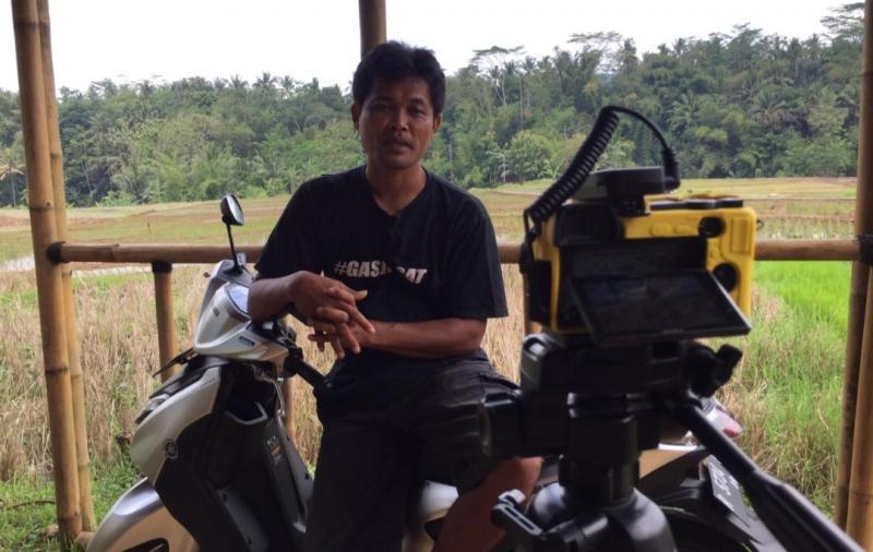 Si Boen, youtuber asal Banyumas, Jawa Tengah dengan sejuta subscribers terkesan dengan Yamaha Gear 125