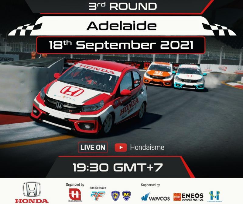 Putaran 3 Honda Racing Simulator Championship siap dilangsungkan di Sirkuit Adelaide Australia pada Sabtu esok