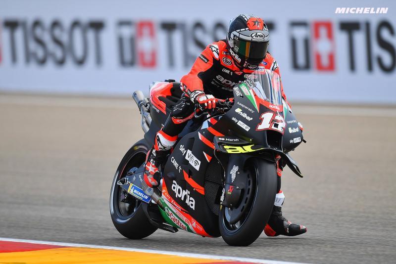Maverick Vinales (Spanyol) bikin kejutan manis, tercepat di sesi FP1 GP San marino di Misano. (Foto: michelin-motorcyclesports)