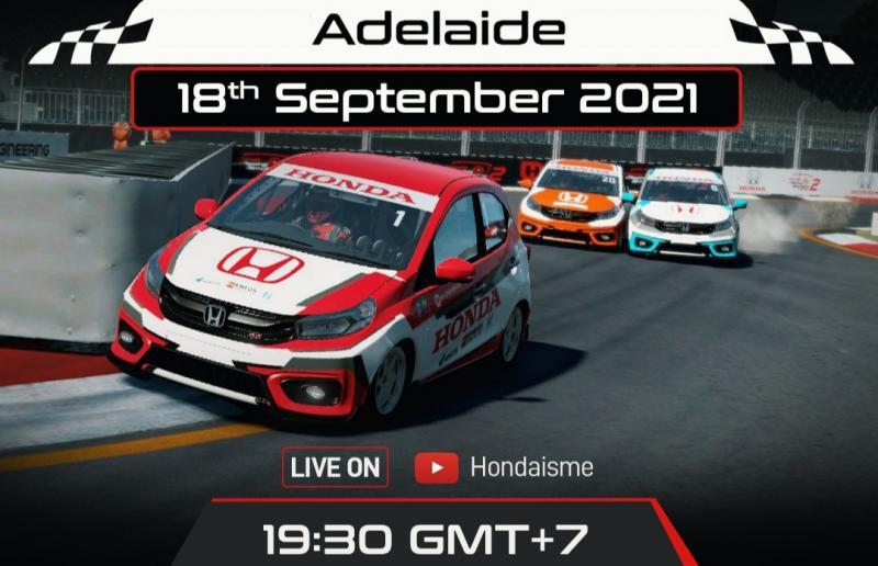 Persaingan ketat dan seru bakal berlangsung pada putaran 3 Honda Racing Simulator Championship 2021 di sirkuit virtual Adelaide, Australia