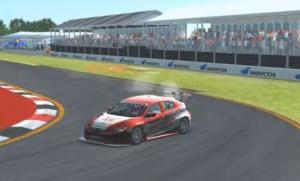 Ramstig melibas tikungan terakhir menuju garis finish putaran 3 Honda Racing Simulator Championship 2021 di sirkuit Adelaide, tinggalkan P2 hingga 5 detik