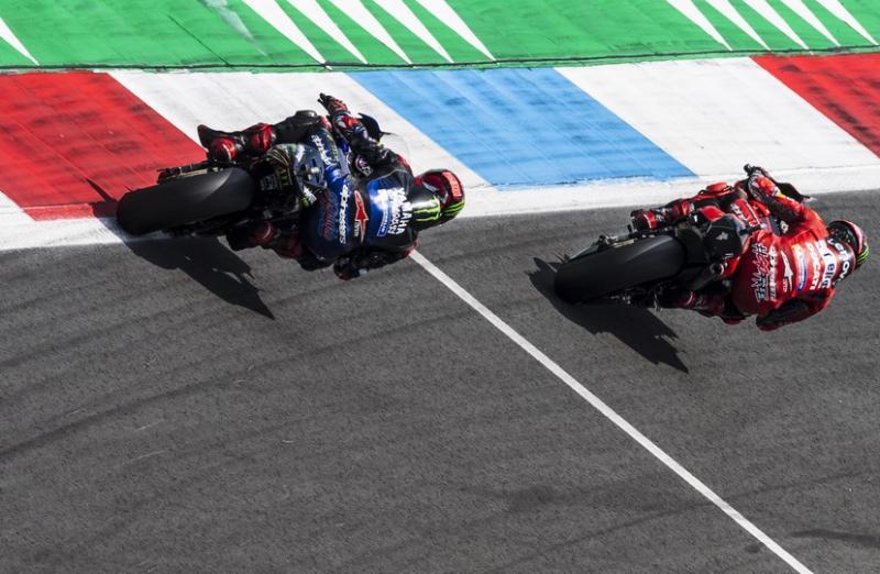 Fabio Quartararo (Yamaha) vs Francesca Bagnaia (Ducati), duel krusial di Misano dalam upaya perebutan gelar 2021. (Foto: ist)