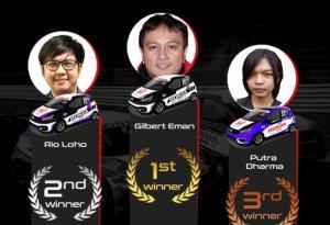 Gilbert Eman jadi juara baru kelas Rookie ronde 3 Honda Racing Simulator Championship 2021 di sirkuit Adelaide, Australia