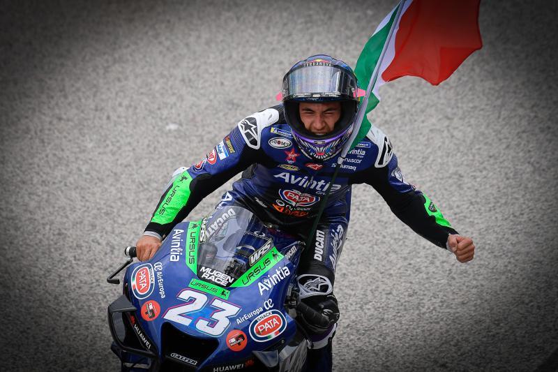 Enea Bastianini (Italia/Avintia Ducati), perjuangan 10 poin berebut gelar Rookie of the Year 2021. (Foto: mototgp)