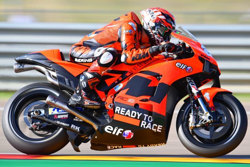 Para pembalap ruki KTM 2022 dari ajang Moto2 mulai beradaptasi dengan RC16 dalam sesi tes Misano. (Foto: ktmtech3)