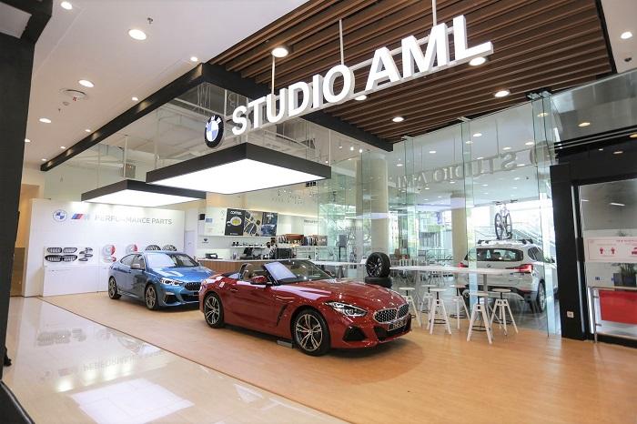 Tampilan menarik BMW Studio AML di AEON Mall, Centul City untuk layanan premium khas BMW