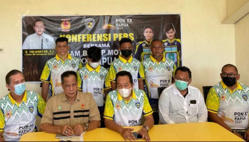 Kontingen balap motor Kalbar ke PON XX Papua gelar preskon di kantor IMI Kalbar, Pontianak