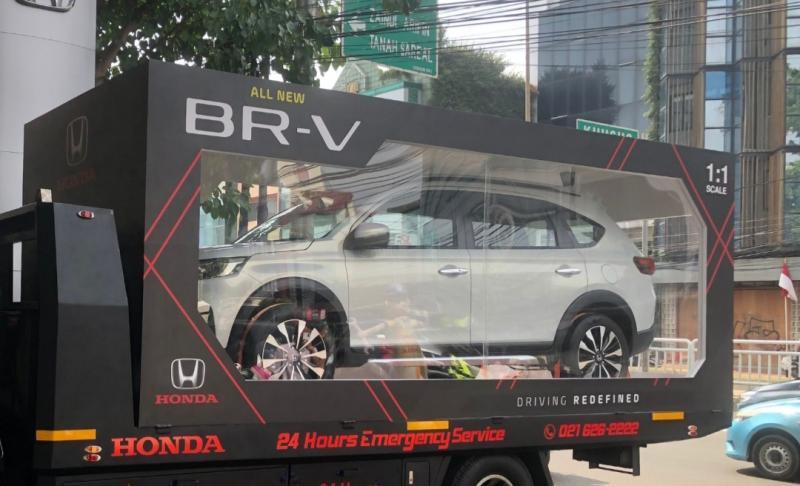 All New Honda BR-V didesain dan dikemas ala diecast (replika mobil) road show Jabodetabek, 5-10 Oktober 2021