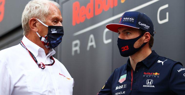 Helmut Marko (kiri) dan Max Verstappen, usung sasis baru melawan Mercedes di GP AS. (Foto: redbullcontentpool)