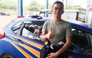 Antoni, pembalap baru asal Palembang yang langsung ikut 3 kelas di ISSOM 2021 putaran 4