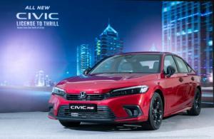 All New Honda Civic sedan dengan tampilan sporty berteknologi tinggi diluncurkan di Jakarta hari ini